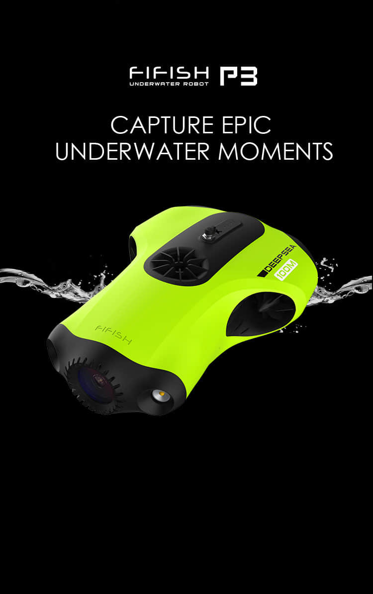 QYSEA FIFISH P3 Underwater Submersible Camera 4K ROV/Robot