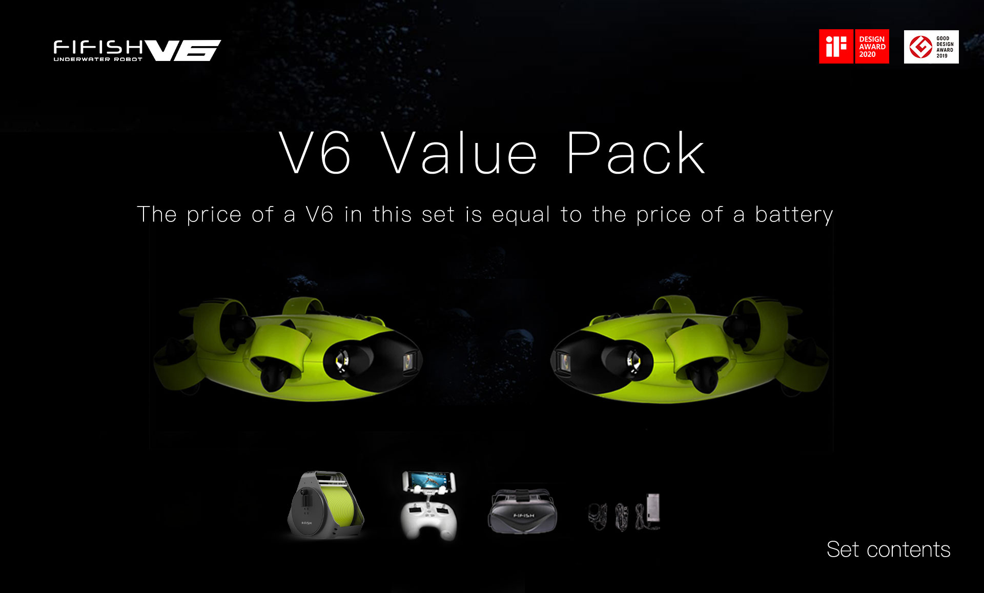 Fifish V6 Twin Pack